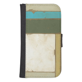 Weathered Panel Painting by Jennifer Goldberger Galaxy S4 Wallet Cases