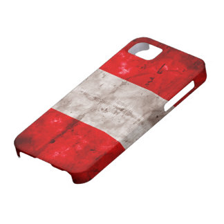 Weathered Peru Flag iPhone SE/5/5s Case