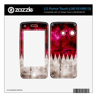 Weathered Qatar Flag Skin For LG Rumor Touch