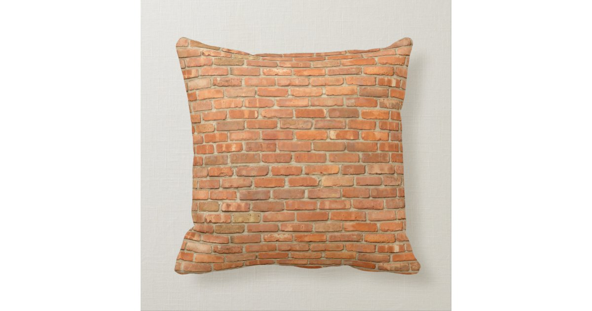 Weathered Red Brick Throw Pillow Zazzle