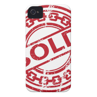 Weathered Red Sold Chain Stamp Effect iPhone 4 Case-Mate Case