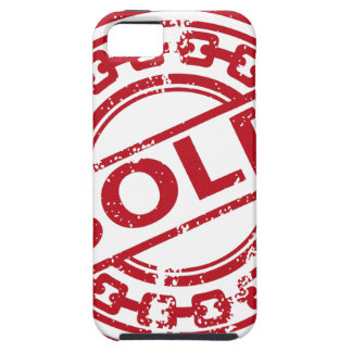 Weathered Red Sold Chain Stamp Effect iPhone SE/5/5s Case