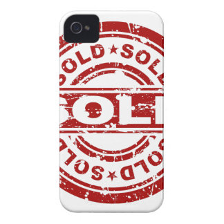 Weathered Red Sold Star Stamp Effect Case-Mate iPhone 4 Case