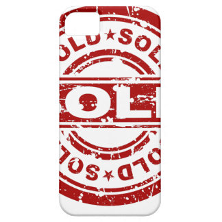 Weathered Red Sold Star Stamp Effect iPhone SE/5/5s Case