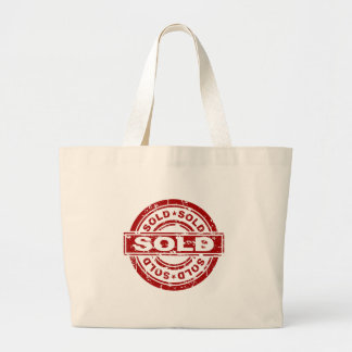 Weathered Red Sold Star Stamp Effect Large Tote Bag
