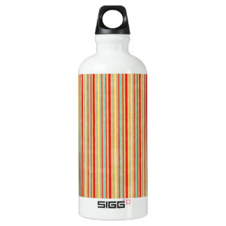 Weathered Red Stripe Aluminum Water Bottle