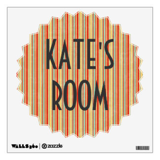 Weathered Red Stripe Room Stickers