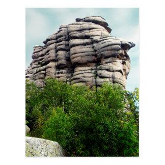 Weathered rock postcard