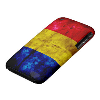 Weathered Romania Flag iPhone 3 Cases