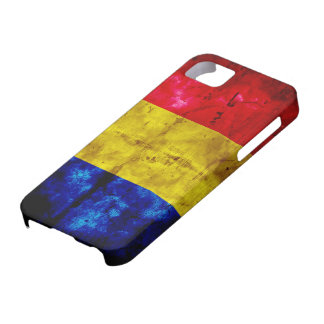 Weathered Romania Flag iPhone 5 Cover