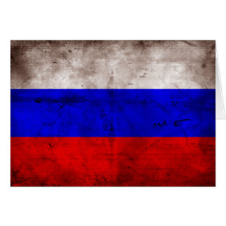 Weathered Russia Flag Card