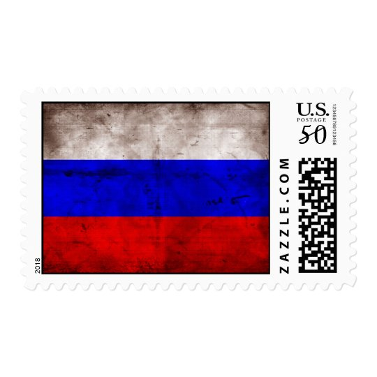 Weathered Russia Flag Postage