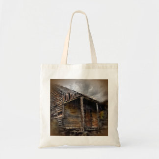 Weathered Rustic Cabin Tote Bag