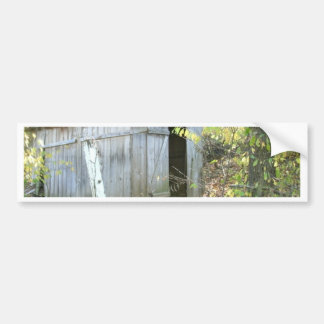 Weathered Rustic Shed Bumper Sticker