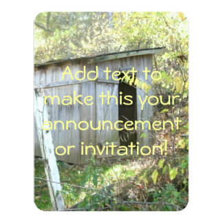Weathered Rustic Shed Card