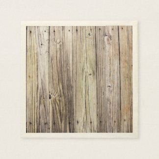 Weathered Rustic Wood Dock Boards Paper Napkin