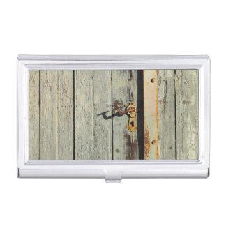 Weathered Rusty Door Handle Business Card Case