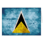 Weathered Saint Lucian Flag Greeting Card