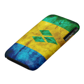 Weathered Saint Vincent Flag Case-Mate iPhone 3 Cases