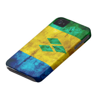Weathered Saint Vincent Flag iPhone 4 Case-Mate Cases