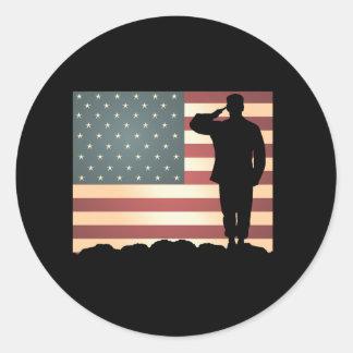 Weathered Salute VD Sticker