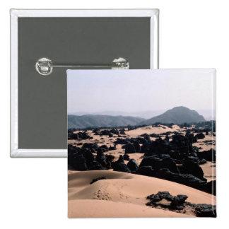 Weathered sandstone rock and sand, Algeria Desert Pins