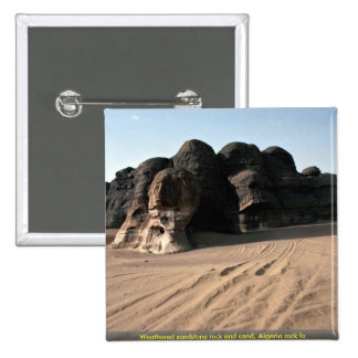 Weathered sandstone rock and sand, Algeria rock fo Pin