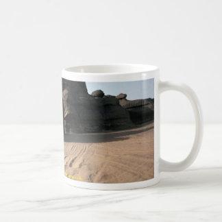 Weathered sandstone rock and sand Algeria rock fo Mug