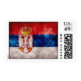 Weathered Serbia Flag Stamp