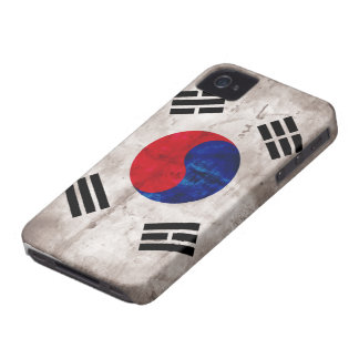 Weathered South Korean Flag iPhone 4 Cases