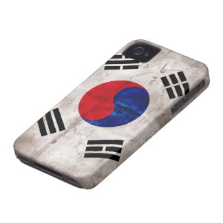 Weathered South Korean Flag iPhone 4 Case-Mate Case