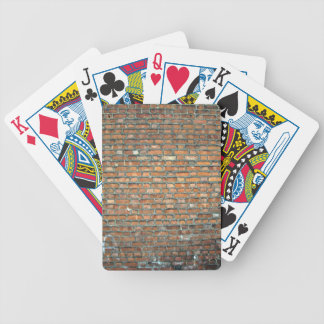 Weathered Stain Old Brick Wall Background Bicycle Playing Cards