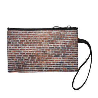 Weathered Stained Red Brick Wall Change Purse
