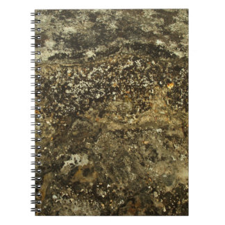 Weathered Stone Effect Design. Spiral Notebooks