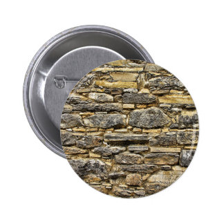 Weathered Stone Old Wall Texture Pinback Button