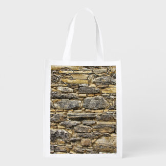 Weathered Stone Old Wall Texture Reusable Grocery Bag