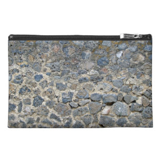 Weathered Stone Wall With Mosses Travel Accessories Bag