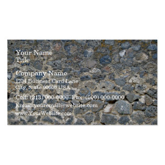 Weathered Stone Wall With Mosses Business Card