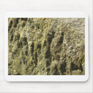 Weathered stone with lichen and moss background mouse pad