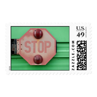 Weathered Stop Sign Postage Stamps