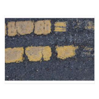 Weathered Street Lines Postcard