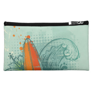 Weathered Surfboard Design Cosmetic Bag