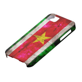 Weathered Suriname Flag iPhone SE/5/5s Case