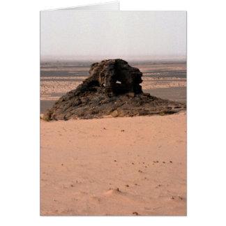 Weathered surrealistic sandstone rock, Niger rock Greeting Card
