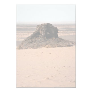 Weathered surrealistic sandstone rock, Niger rock 5x7 Paper Invitation Card