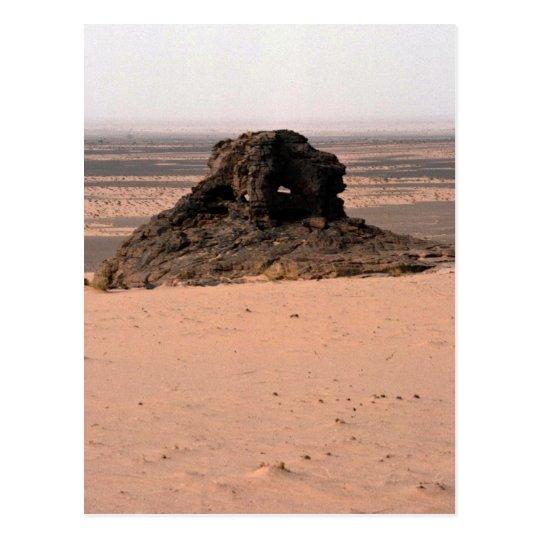 Weathered surrealistic sandstone rock, Niger rock Postcard