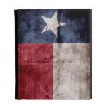 Weathered Texas Flag; iPad Folio Cases