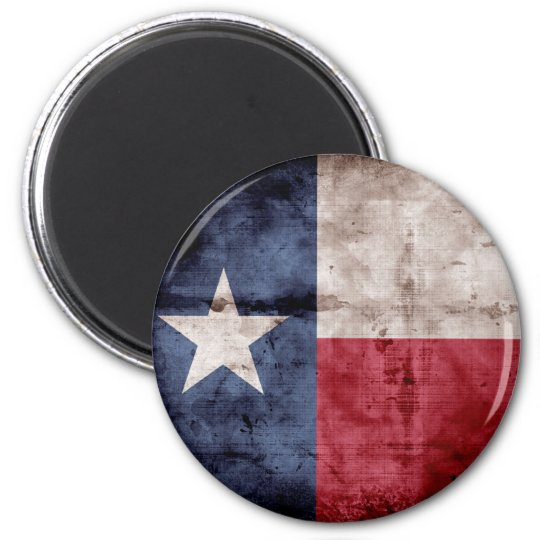 Weathered Texas Flag; Magnet