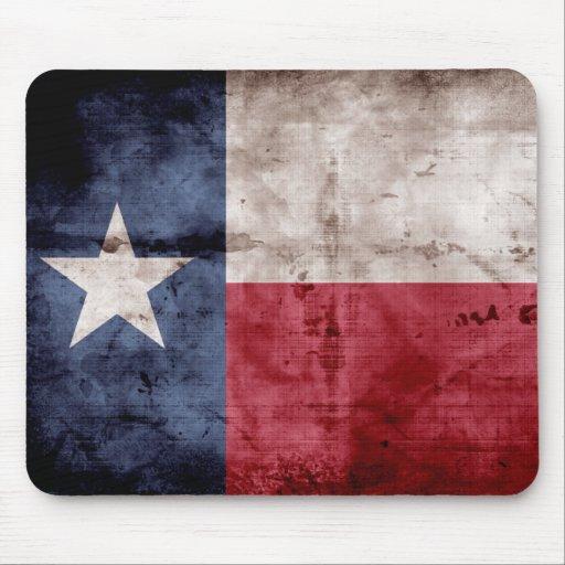 Weathered Texas Flag; Mousepad