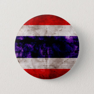 Weathered Thailand Flag Pinback Button